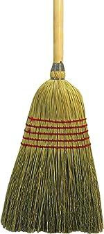 UNISAN Parlor Broom, Yucca/Corn Fiber Bristles, 42 Inch Wood Handle, Natural