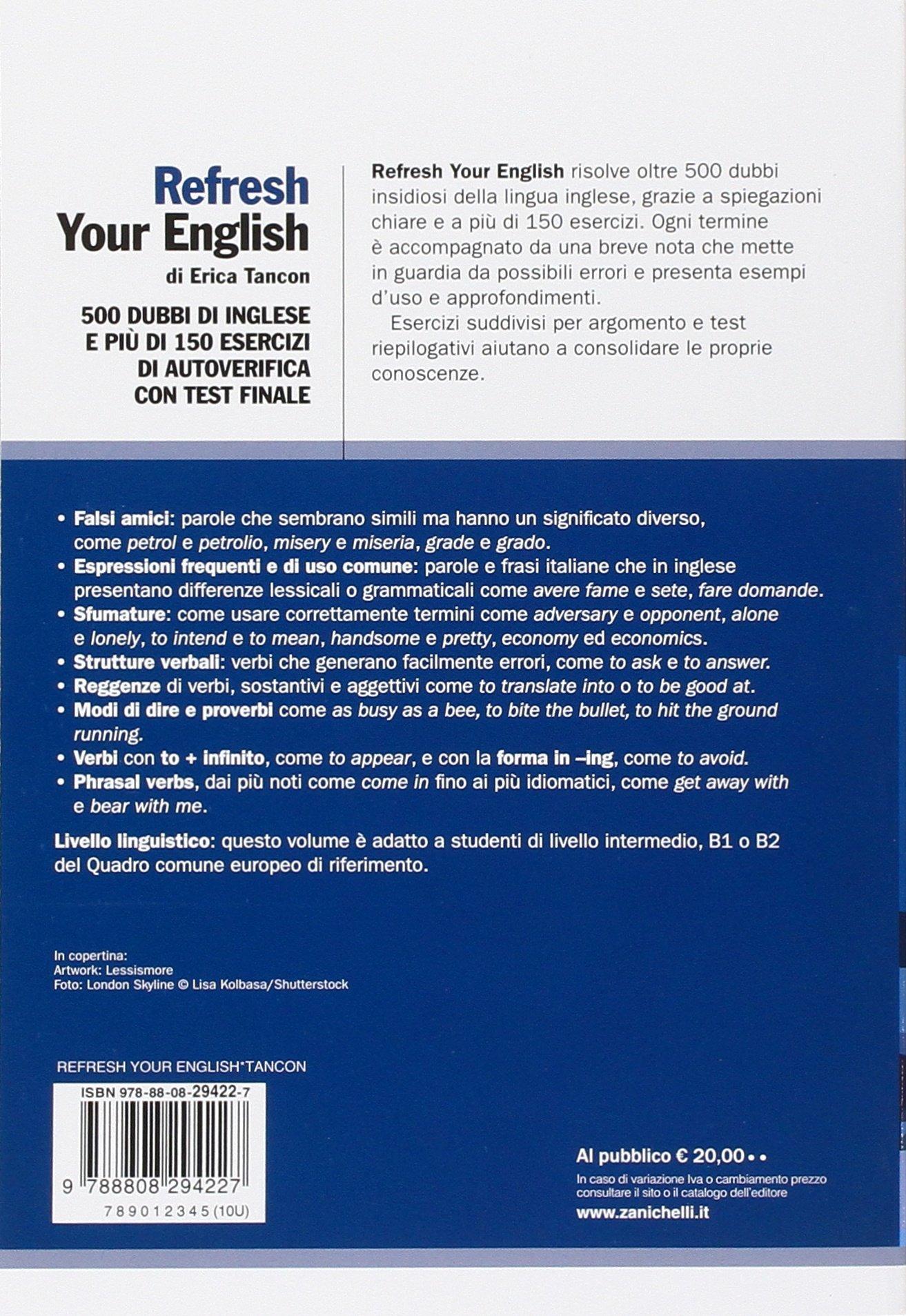 Amazonit Refresh Your English 500 Dubbi Di Inglese E Più Di 150