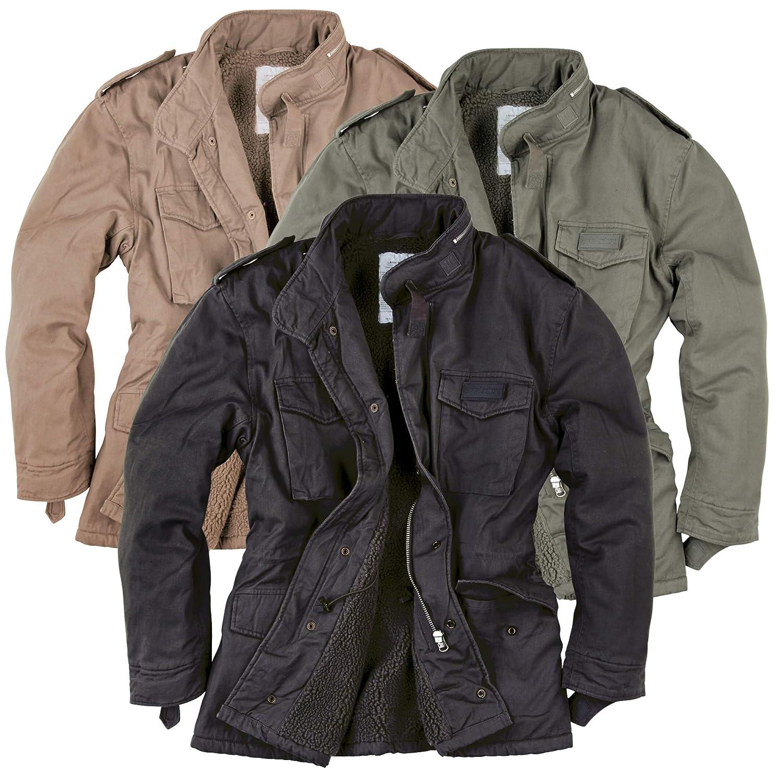Surplus Men's Paratrooper Winter Jacket Olive Washed