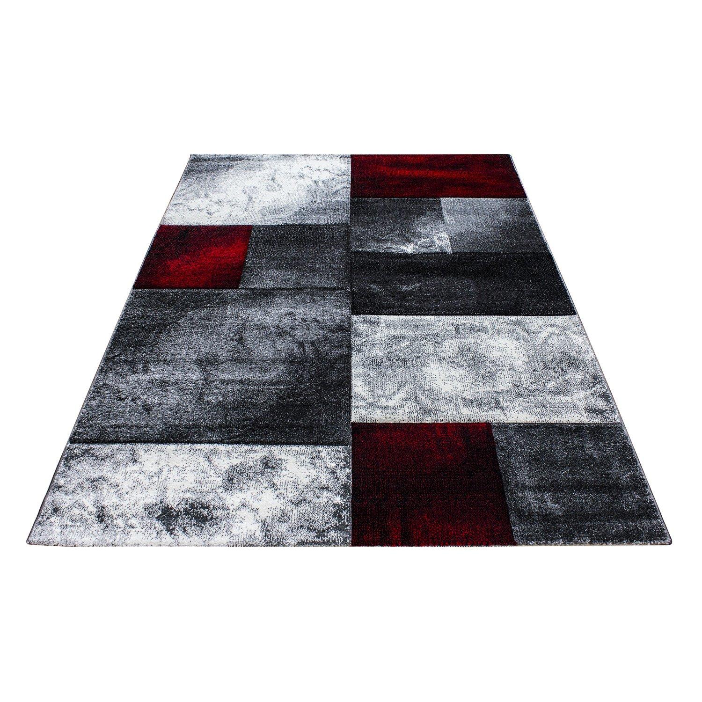 Moderner Design Konturschnitt Kurzflor Kurzflor Kurzflor Guenstige Teppich Geometrisch Patchwork Schwarz Grau Weiss Rot meliert 5 Groessen Wohnzimmer ver. Farben u. Groeßen, Größe 160x230 cm ecb364