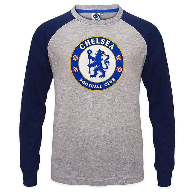 Chelsea FC - Camiseta oficial con mangas raglán - Para niños - Con el  escudo del club  Amazon.es  Ropa y accesorios 09cac8a579913