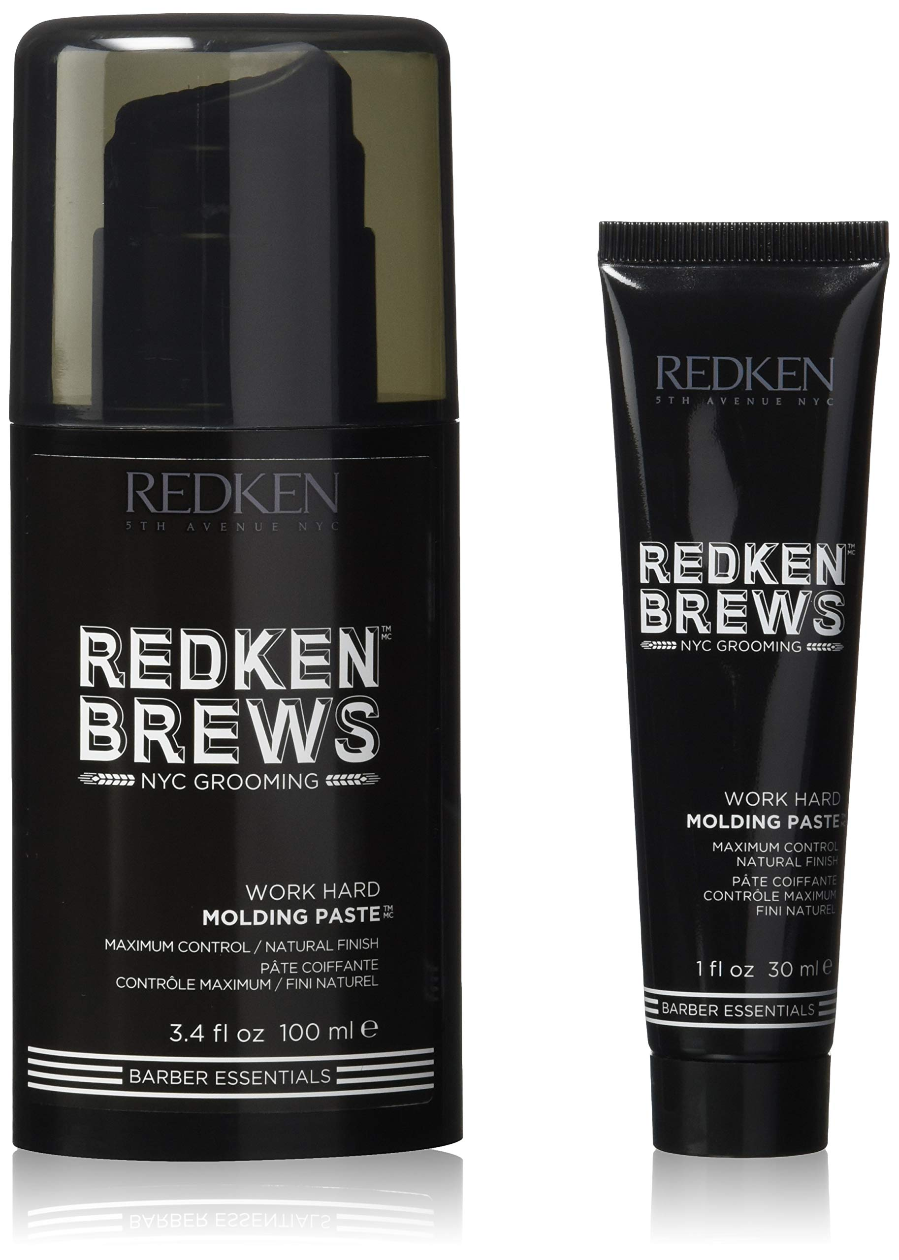 Redken Brews Molding Paste For Men, High Hold, Natural Finish, 3.4 fl. oz. with free mini by Redken Brews