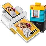 Kodak Dock Plus 4x6 Instant Photo Printer 80 Sheet Bundle (2021 Edition) – Bluetooth Portable Photo Printer Full Color Printi