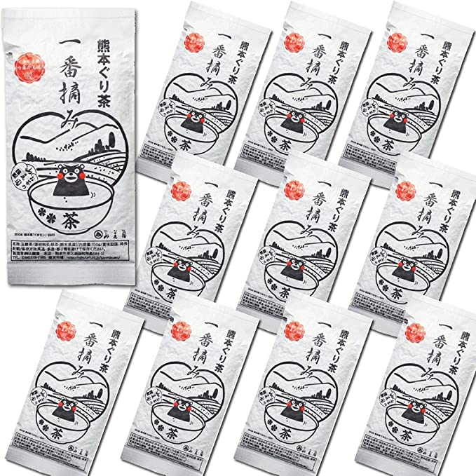 お茶の山麓園 熊本ぐり茶一番摘み 通常品 100g×10個+1個おまけ (通常品11個)