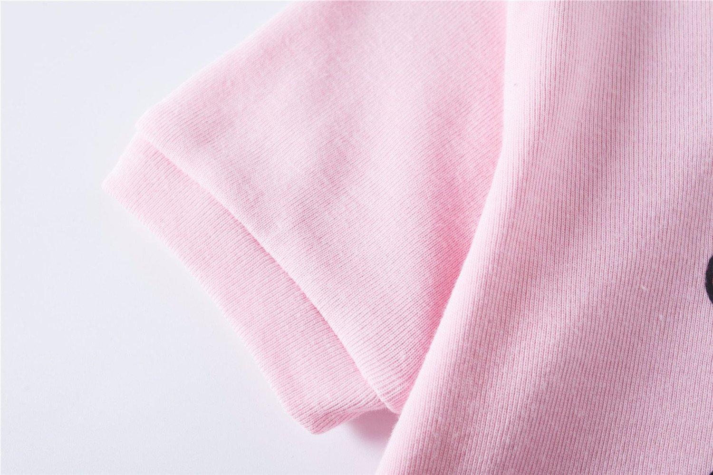 Dhasiue Little Girls\' Shorts Set Toddler 100% Cotton Clothes Giraffe Pajamas