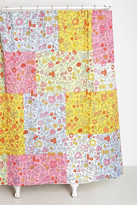 Image Unavailable Not Available For Color Urban Outfitters Victory Garden Patchwork Printed Floral Fabric Shower Curtain