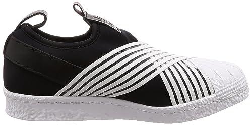 Amazon.com | adidas Womens Superstar Slip On W, CORE Black/Footwear White/Footwear White | Fashion Sneakers