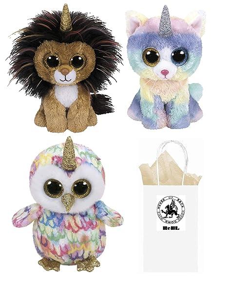 Amazon.com  ReBL LLC TY Stuffed Plush Animals Toys Beanie Boos Lion ... 54eb50b7216c
