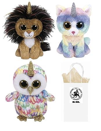 Amazon.com  ReBL LLC TY Stuffed Plush Animals Toys Beanie Boos Lion ... 89718f193d2f