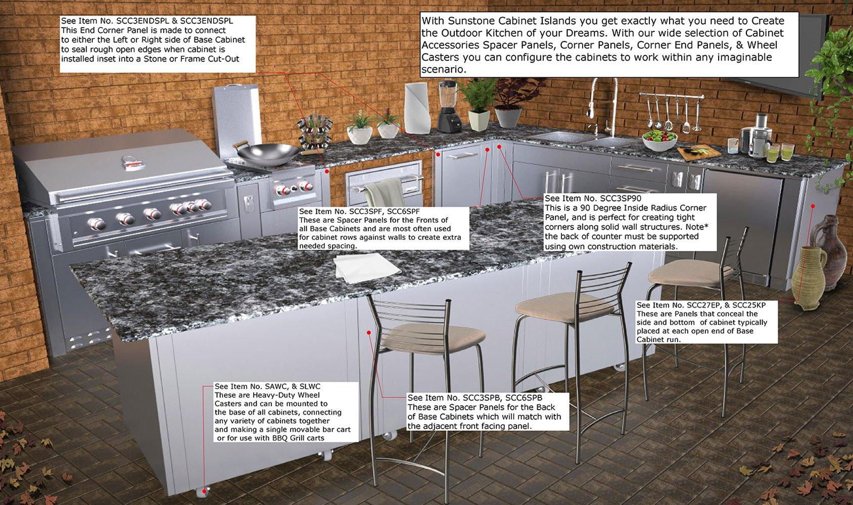 SUNSTONE SCC27EP Designer Series Cabinet Accessories