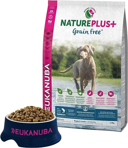 Comprar EUKANUBA NaturePlus+ Sin grano Cachorro y Junior Con salmón fresco congelado [2.3 kg]