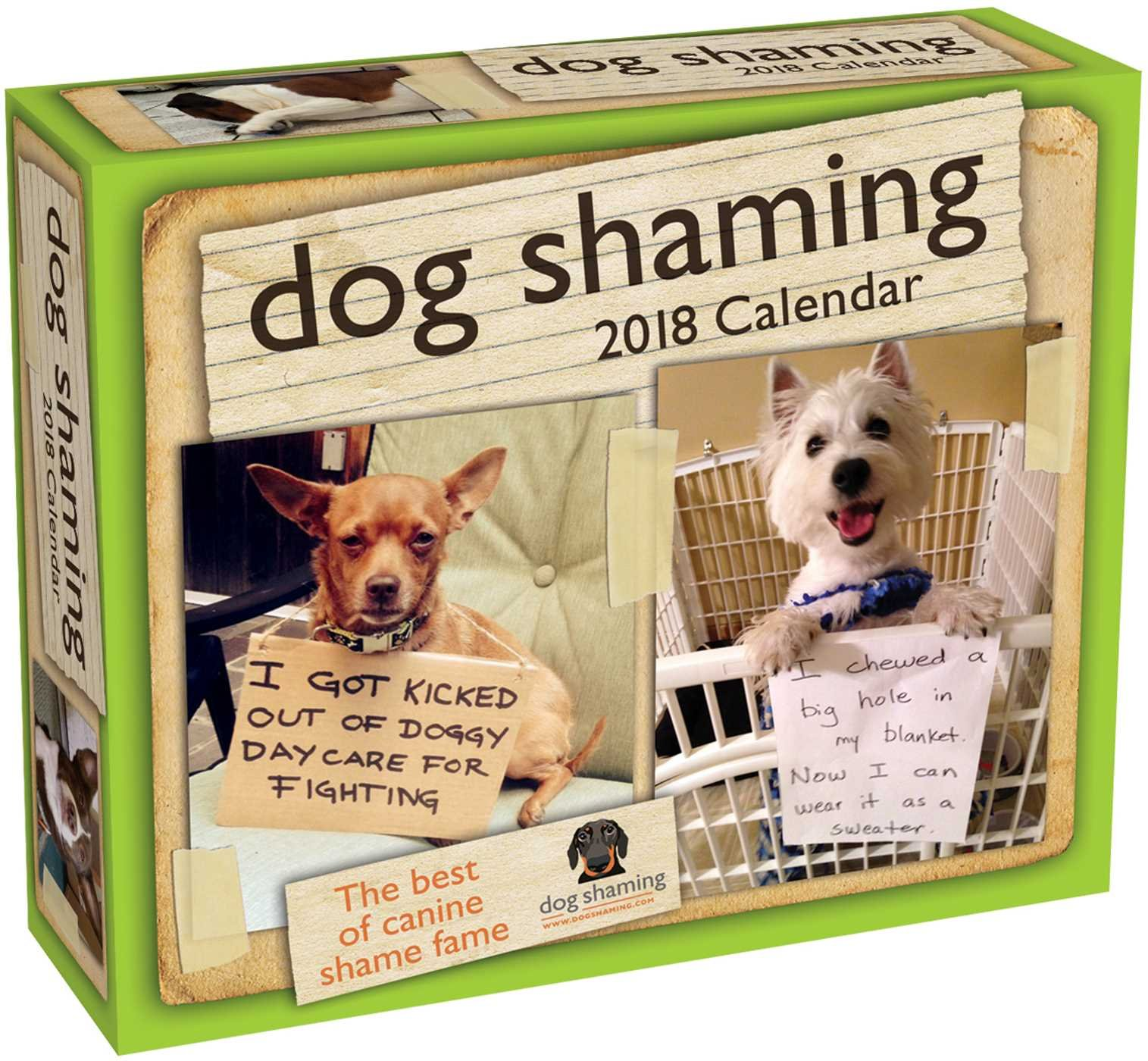 Dog Shaming 2018 Day-to-Day Calendar Calendar – Day to Day Calendar, Desk Calendar Pascale Lemire dogshaming.com Andrews McMeel Publishing 1449485154