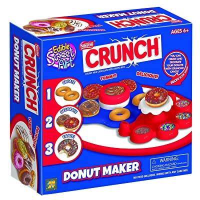 Crunch Donut Maker - Fun for Group Activity - Easy to Make & Fun To Decorate - Perfect Birthday Party Activity & Sleepovers - Great Present For Young Donuts Lovers - For Kids Aged 6+: Toys & Games