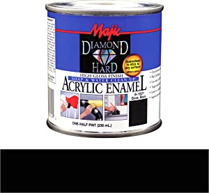 Majic Paints 8-1501-4 Diamond Hard Acrylic Enamel High Gloss Paint, Half Pint/8-Ounce, Gloss Black