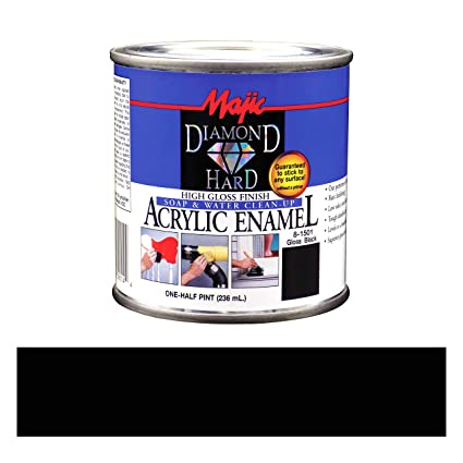 Acrylic Enamel Paint >> Majic Paints 8 1501 2 Diamond Hard Acrylic Enamel High Gloss Paint 1 Quart Gloss Black