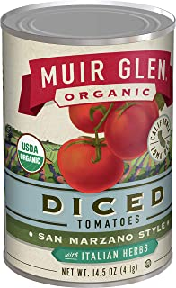 product image for Muir Glen, Organic San Marzano Style Diced Tomatoes With Italian Herbs, 12 Cans, 14.5 oz