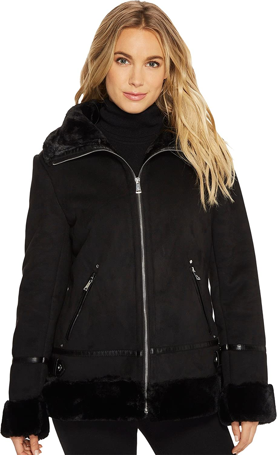 ad008b0e Imported LAUREN Ralph Lauren Outerwear Size Chart It can be chilly at the  top. Keep warm in the elevated style of the LAUREN Ralph Lauren® Faux  Shearling ...
