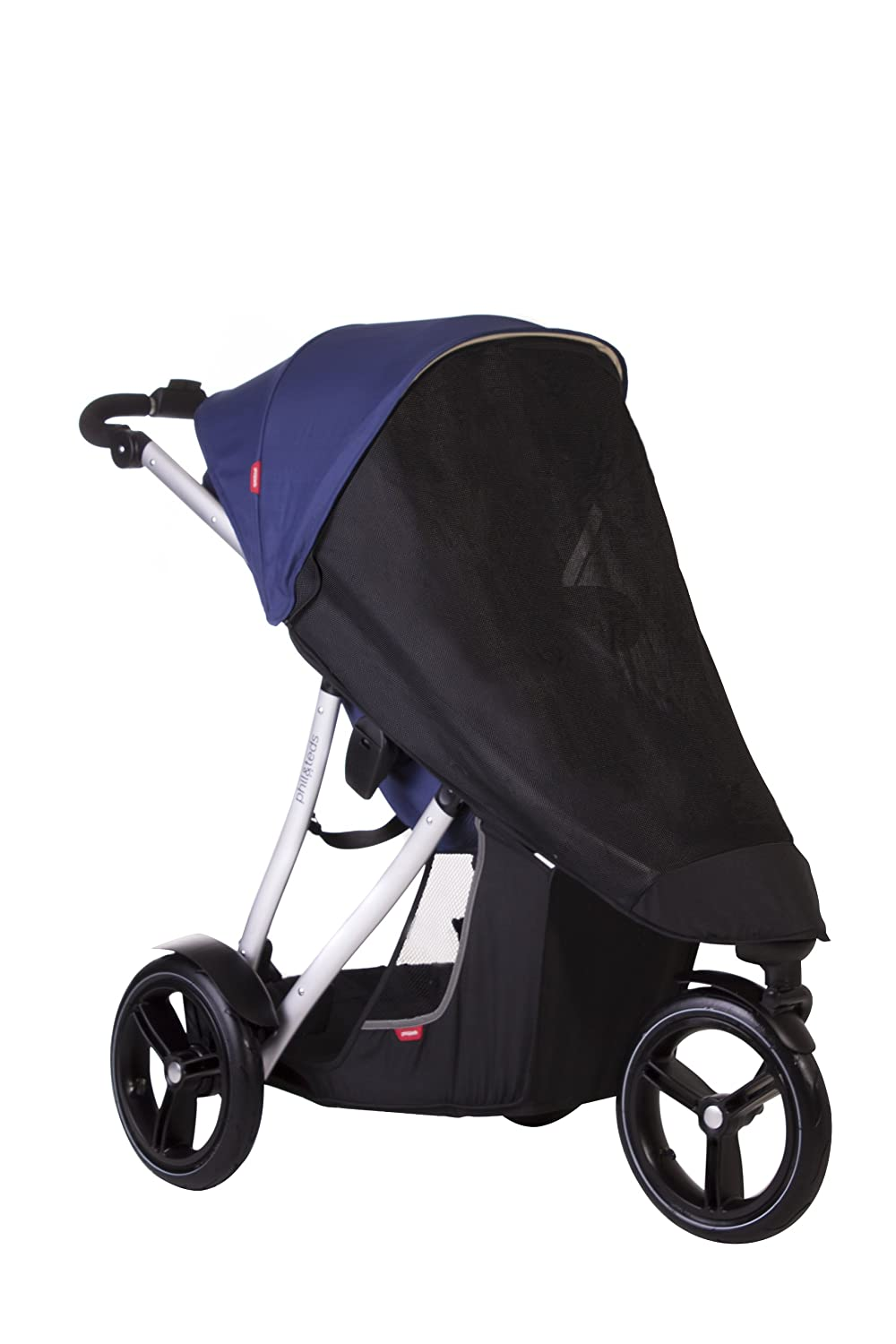 phil& teds UV Sunny Days Mesh Cover for Vibe and Verve Strollers, Double VERMD_V3_9999_200_USA
