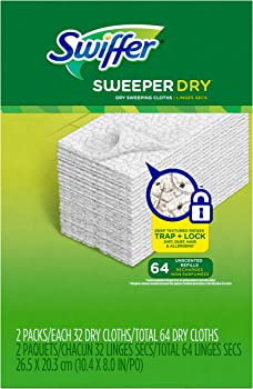 64-Count Swiffer Sweeper Dry Sweeping Pad Refills