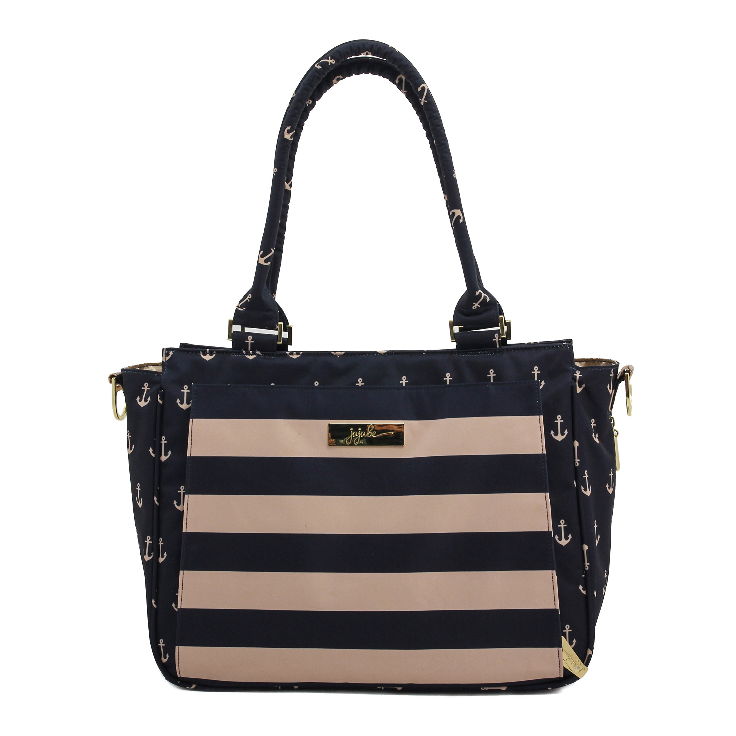 JuJuBe Be Classy Structured Multi-Functional Multi-Functional Diaper Bag/Purse, Nautical Collection - The Commodore