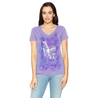 Hanes Women's Short Sleeve Graphic V-Neck Tee at Women's Clothing store