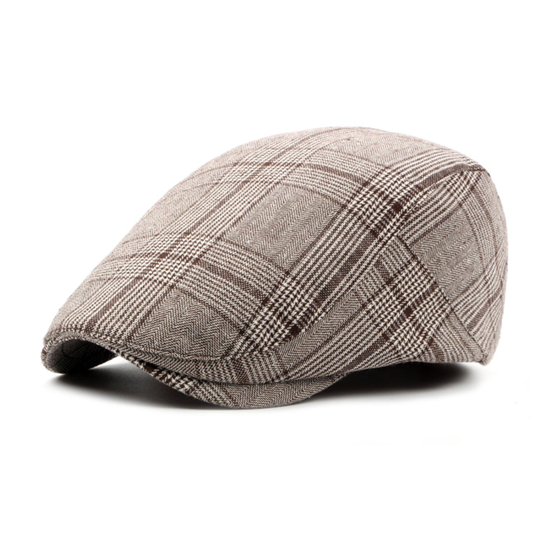 Men's Newsboy Gatsby Hat Vintage Beret Flat Ivy Cabbie Driving Hunting Cap for Boyfriend Gift by PanPacSight