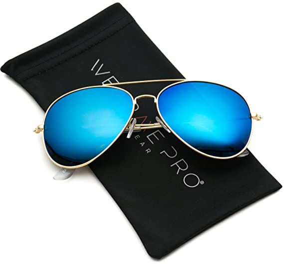 ac8c8471de8 Image Unavailable. Image not available for. Color  WearMe Pro - Premium  Full Mirrored Blue Aviator Sunglasses w Flash Mirror Lens