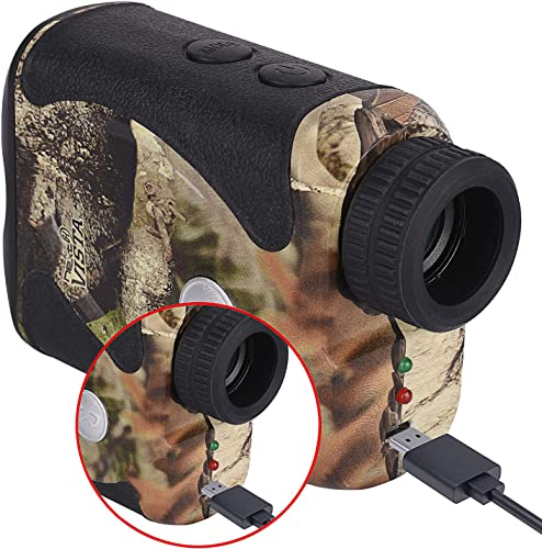 Wosports Rechargeable Hunting Rangefinder, 800 Yards USB Charging Laser Rangefinder Support Vibration,Continuous Scan,Distance Speed Measurement