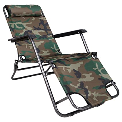 Story@Home Folding Reclining Lounge Chair For Camping Garden, Beaches,  Sunbathing Outdoor Portable