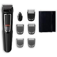 Philips MG3720/15 Recortadora para barba y pelo, 7 en 1, accesorios para nariz y orejas, cortapelos cara, y cabeza, 60…