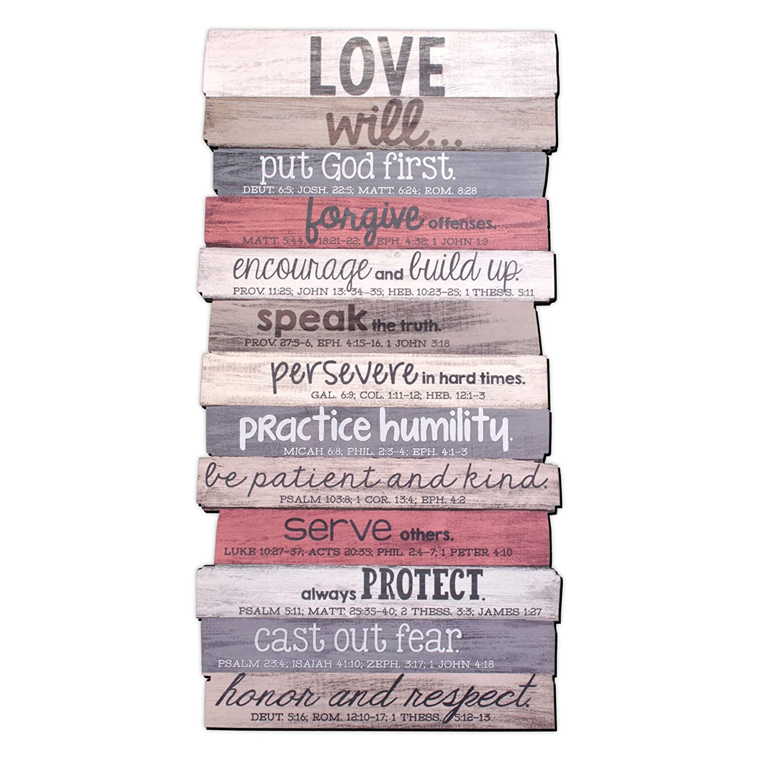 Lighthouse Christian Products 45017 15.25 x 29.125 x 1 Our Family Will Wall Art Plaque