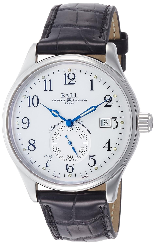 [ボールウォッチ]BALL WATCH 腕時計 スタンダードタイム ホワイト文字盤 ブラック革 自動巻 30m防水 NM3888D-L1CJ-WH メンズ 【並行輸入品】 B06VW8CFWP