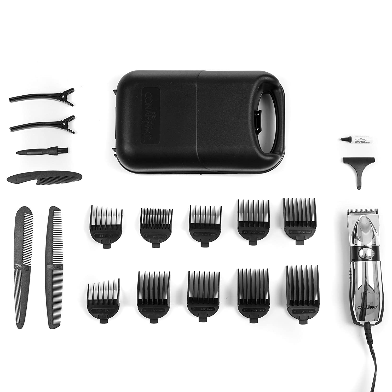 Amazon.com : Conair 72-PC225 Pro 20 Piece Detachable Blade Chrome Haircut Kit : Hair Cutting Kits : Beauty