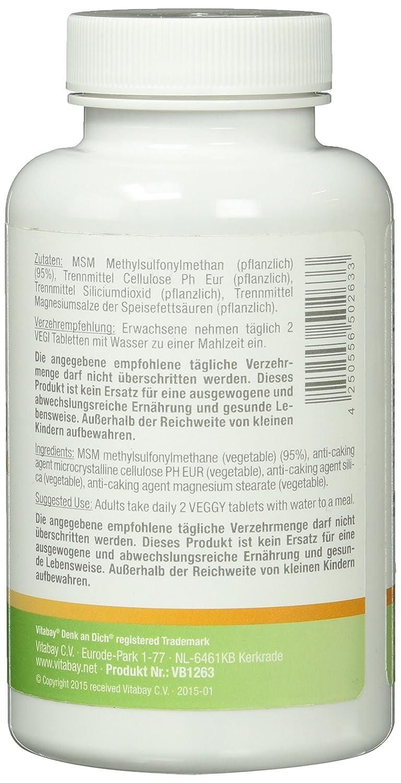 MSM (metilsulfonilmetano) con MeSH 80-1000 mg - 120 pastillas: Amazon.es: Salud y cuidado personal