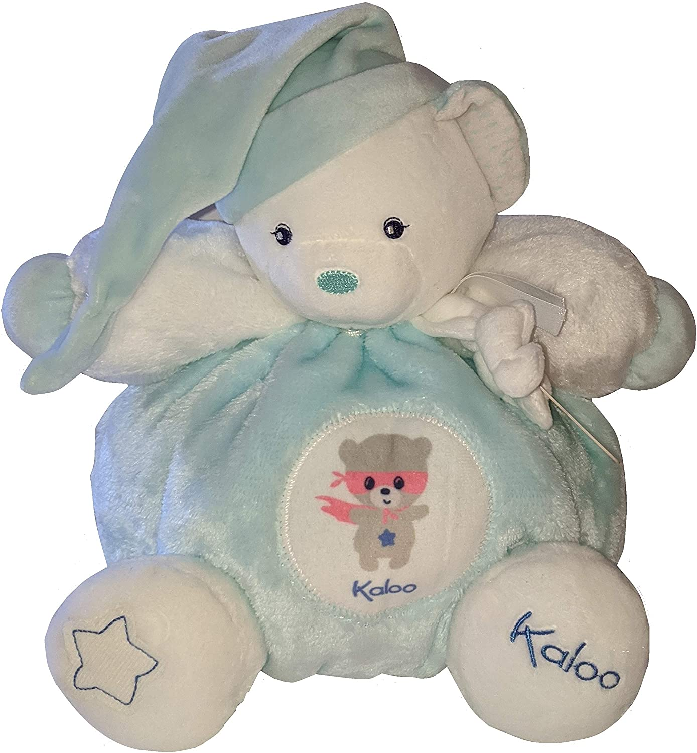 Onesie, Pant, Body Suit, and Hat Twinkle Twinkle Little Star and Little Prince Nursery Clock Beautiful Baby Boy Gift Basket with Large Kaloo Chubby Bear Cuddly Baby Gift Basket 4 Piece Newborn Set Plush Blanket