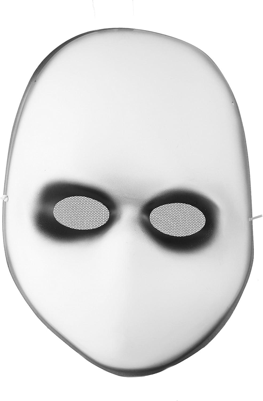 Blank Black Eyes Doll Adult Mask