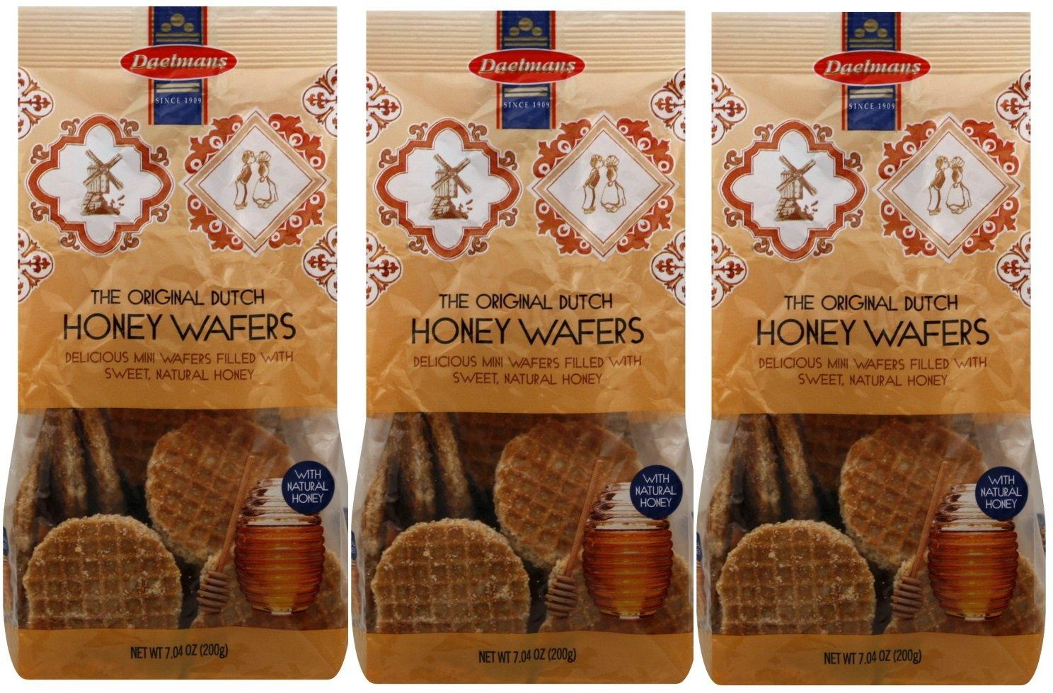 3 Pack: Daelmans Original Dutch Honey Wafers 7 Oz Bags