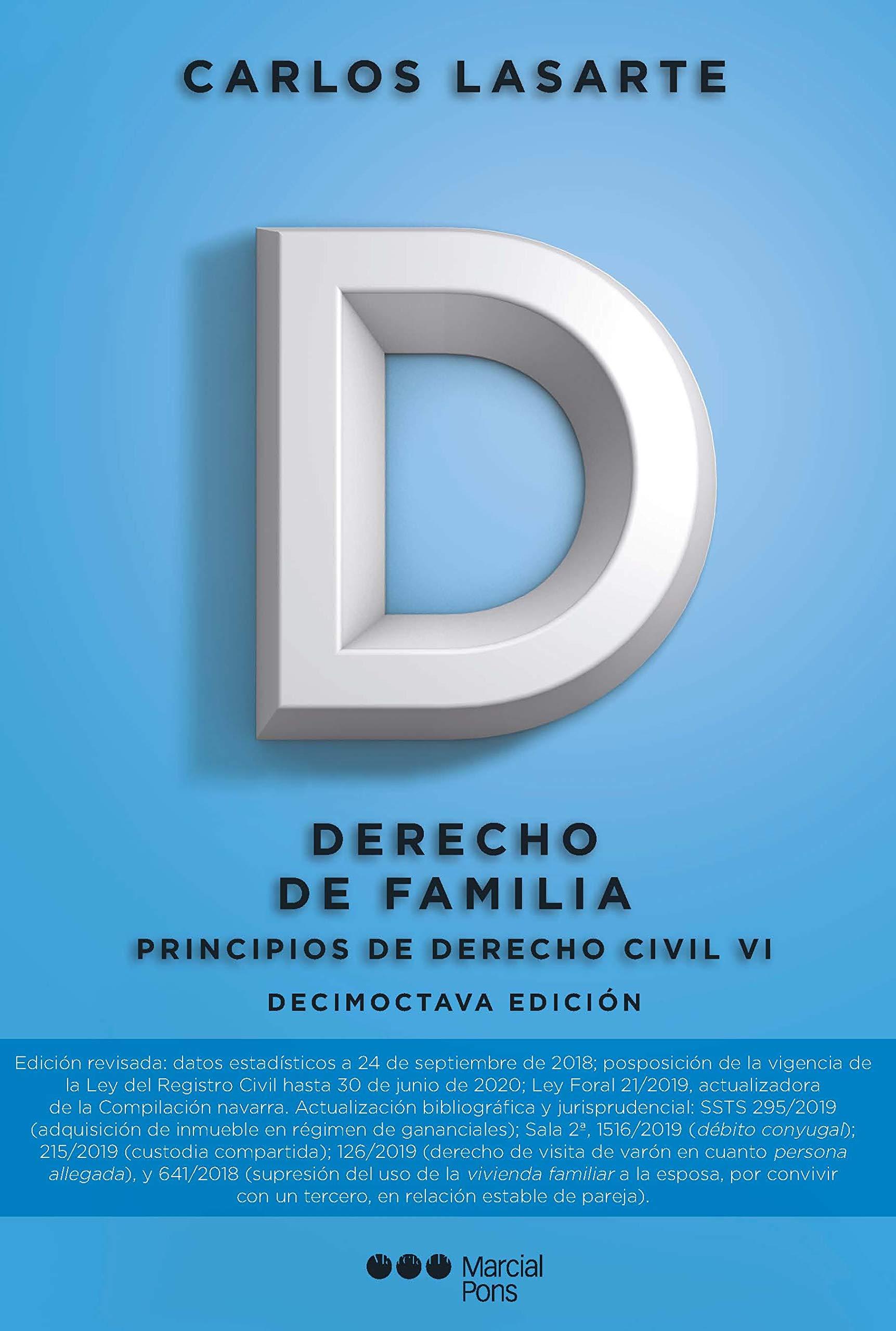Principios de Derecho civil: Tomo VI: Derecho de familia (Manuales universitarios)