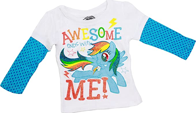 99e1c123 Amazon.com: My Little Pony Awesome Ends With Me Toddler T-Shirt, 2T ...