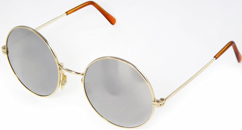 e638f047f8 Amazon.com   NEW PRINCE PURPLE RAIN RETRO MIRROR ROUND SUNGLASSES GOLD  METAL GLASSES GRAY 100% UV 53-18-130mm   Everything Else