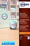 Avery L7104REV-20.UK - Etiquetas reutilizable (240 unidades), color blanco