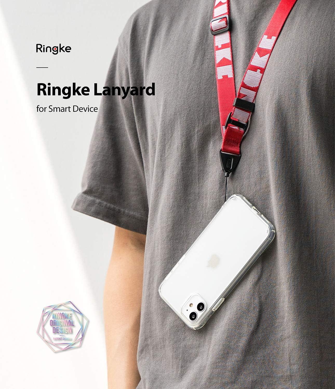 Lettering Red Sangle Courroie de Cou One-Touch Buckle Nylon Polyester 1 Trou de Sangle N/écessaire Multi-Usage Cordon Ringke Lanyard Strap