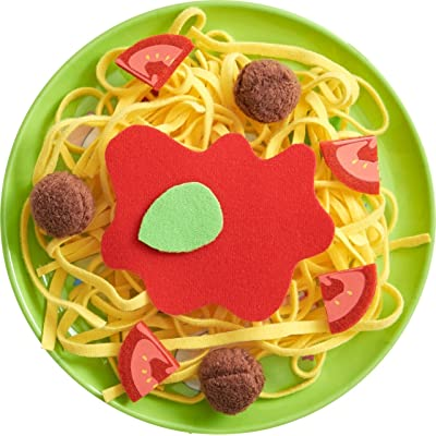HABA Biofino Spaghetti Bolognese Polyester Pasta and Meatballs - for Pretend Role Play Dinner Fun: Toys & Games