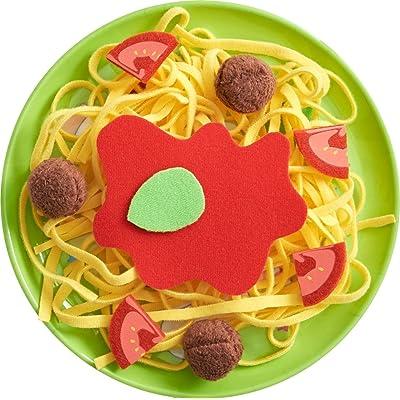 HABA Biofino Spaghetti Bolognese Polyester Pasta and Meatballs - for Pretend Role Play Dinner Fun: Toys & Games [5Bkhe0503961]