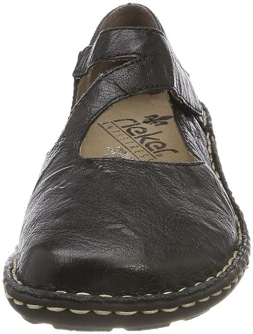 shoes 49883 Senza Rieker Neri Amazon Chiusura n8wkX0OP