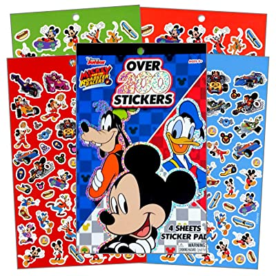Disney Mickey Mouse Sticker Set ~ Mickey Mouse Sticker Pad with Over 200 Stickers and Bonus Sticker Sheet Featuring Mickey Mouse, Donald Duck, Minnie Mouse and More (Mickey Mouse Party Favors): Toys & Games