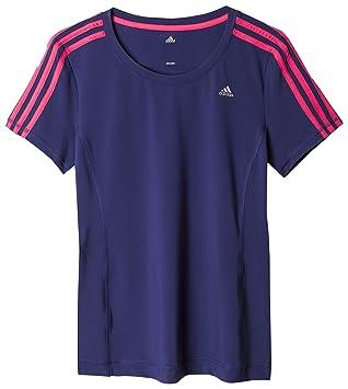 Adidas Clima 3S ESS tee Camiseta-ADIDAS-AB5007-Mujer, Mujer, Azul