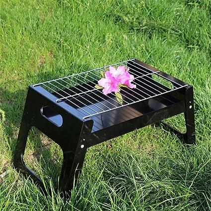 HomJo Barbacoa grill Portable plegable piernas a carbón de ...