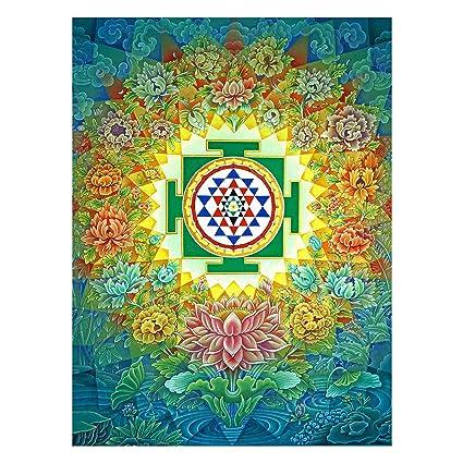 Yantra Mandala Painting - Sri Yantra Wallpaper Painting by Sagar World: Amazon.in: Home & Kitchen