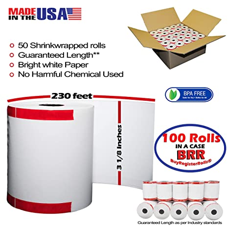 Amazon.com: Shrink Wrap 3 1 8 x 230 rollo de papel térmico ...